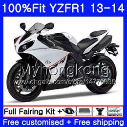 kit carcaça yamaha r1 Desconto Corpo de injeção para YAMAHA estoque branco quente YZF 1000 YZF R YZF1000 YZF R1 13 14 242HM.46 YZF-1000 YZF-R1 YZFR1 2013 2014 Carenagem Completa