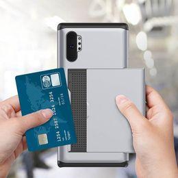 2019 samsung galaxy slide telefon Schlanke Folie Kartenhalter Handy Fällen für Samsung Galaxy Note 10 Plus S10 5G Hinweis 9 Huawei P30 Pro Hybrid Rüstung Fall günstig samsung galaxy slide telefon