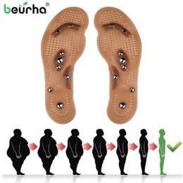 Puntos de masaje de pies online-Desintoxicación del cuerpo Terapia de puntos de acupuntura pie magnético Cojín de plantilla Masajeador Brioche Masaje de confort Zapatillas de zapatos Terapia