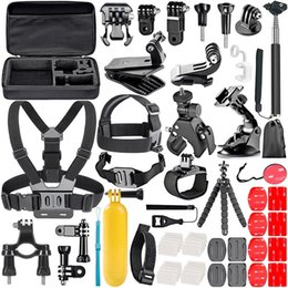gopro set Desconto Para Gopro Acessórios Set go pro hero 7 6 5 4 3 kit de 3 vias vara selfie para Eken h8r caso EVA