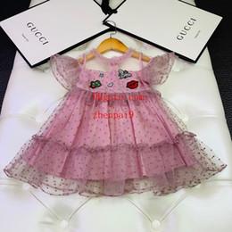 2019 vestidos de verão bebê artesanal 2019 verão bebê meninas vestido rosa Handmade frisada vestido bordado moda casual vestidos crianças roupas crianças roupas meninas ABD-33 desconto vestidos de verão bebê artesanal