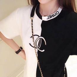 Frauen schwarze hemdstickerei online-Luxus Frauen Designer T-Shirt Sommer Marke Männer Brief Stickerei T-Shirt Casual Kurzarm T-Shirts Rundkragen Hip Hop Schwarz Weiß Top t