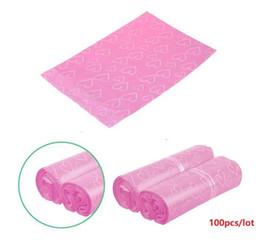 Takı kızın hediye torbaları 100pcs / lot Pembe Poly PE Mailer Ekspres Poşet 38 * 52cm Posta Çanta aşk kalp Zarf Kendinden Seal Plastik torbalar nereden
