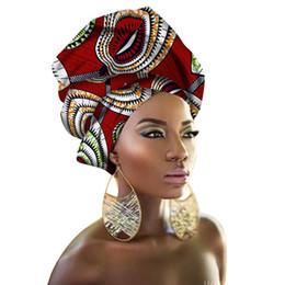 2019 благородное королевское платье Африканский руководитель Обертывания Tranditional Стиль Африканский Headtie Dashiki Глава Tie для женщин Headwrap шарф 180 * 56см (70 * 22inch)