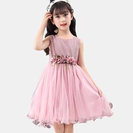 ced50f9dda0b Vestito per ragazze senza maniche Vestito da principessa per bambini  Bambini Estate Bambini Vestiti per adolescenti 6 8 10 12 13 14 Anno a  prezzi ...