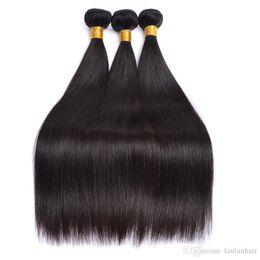 2019 königin remy menschenhaar Lucky Queen Gerade Brasilianische Haarwebart Bundles Deal Haarverlängerung Anbieter 10 bis 26 Zoll Remy 100% Human Hair Bundles günstig königin remy menschenhaar