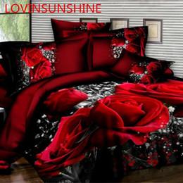 3d листы роз Скидка Домашний текстиль постельных принадлежностей 3D цветы розы сирень пастырское стиль 4 шт. пододеяльник наборы мягкий полиэстер постельное белье плоский простыня