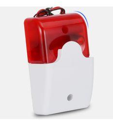 Systèmes d'alarme de sécurité câblés en Ligne-103 Sirène d'alarme filaire intérieure Flash stroboscopique avec son La lumière rouge clignotante Sirène pour zone filaire Système d'alarme de sécurité domestique