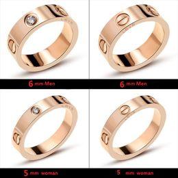 2019 золотые кольца мальчика Titanium Steel Wedding Brand Любители Дизайна Кольцо для женщин Роскошные Цирконий Обручальные Кольца мужские ювелирные изделия Подарки Модные Аксессуары