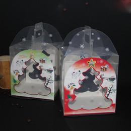 paquetes de vivienda Rebajas Paquete de la casa de pan de jengibre transparente Pastel de galletas Pastel de caramelo Caja de chocolate Favores de boda Cajas 15 * 16 * 18 cm Envío gratis QW9035