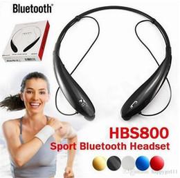 HBS 800 Bluetooth Headset Kopfhörer Funkkopfhörer Stereo Funk Halsbänder für iphone 6 6s 6Plus 7 plus ohne Logo Mit Kleinkasten von Fabrikanten