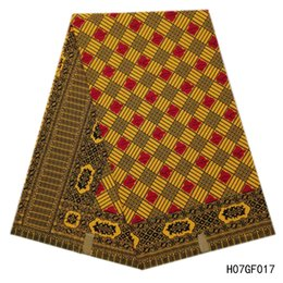 Algodão holandês on-line-Africano 100% Algodão Imprime Tecido de Alta qualidade nova holandês holandês cera hollandais tecido material de impressão de algodão amarelo clássico para costura