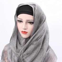 2019 fester roter schal chiffon Islamische Frauen Headwrap langer moslemischer Schal-Schal Hijab Großhandels7 färbt arabischen moslemischen Normallack-Schal Hijabs CIHW02