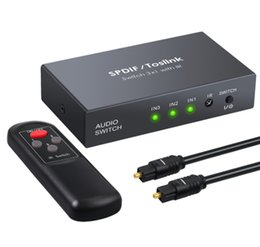 Audio-kabel-splitter-schalter online-HDMI-Kabel SPDIF / Toslink Optical Audio 3x1 Switcher Digital Optical HDMI Switch Splitter Extender mit IR-Fernbedienung