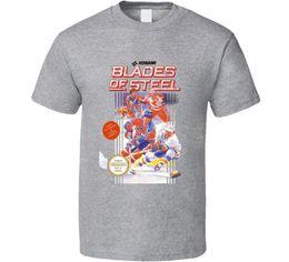 Blades Of Steel Nes Box Art Jeu Vidéo T Shirt Drôle livraison gratuite Unisexe Tshirt top ? partir de fabricateur