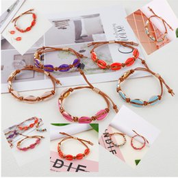 fascini del mare d'oro Sconti SEDmart 2019 Fashion Summer Rope Chain Shell Charm Bracelate per le donne Gold Sea Shell Best Friendship Jewelry Gifts