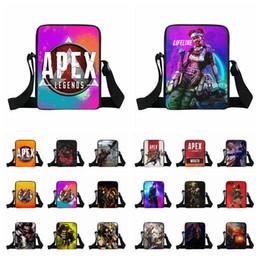 telefone impresso 3d Desconto Apex Legends hero bolsa 36 estilos 3D impresso dos desenhos animados crianças saco de Moda casual ombro saco do almoço homens Telefone Saco Da Moeda AAA1865