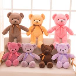 ursinhos de pelúcia recheados Desconto Presentes Teddy Bears bebê brinquedos de pelúcia 12