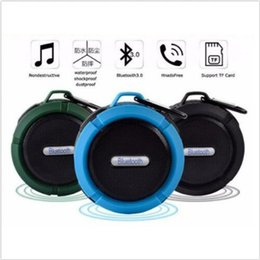 2019 amplificador de micrófono portátil Altavoz Bluetooth portátil Ventosa Estéreo Impermeable Enganche manos libres