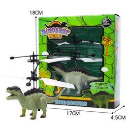 2019 juguete de molino de viento flash RC vuelo del juguete luminoso del unicornio del robot dinosaurio electrónico de infrarrojos de inducción Aviones de control remoto juguetes de luz LED mini helicóptero ToysE1304