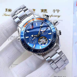 2019 movimento orologio tourbillon Orologi da uomo di lusso di alta qualità Tourbillon Movimento meccanico automatico 600M James Bond 007 orologio da uomo da uomo d'affari casual movimento orologio tourbillon economici