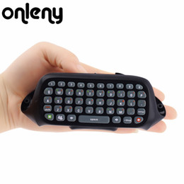 Freeshipping Novo Mini Teclado Wireless Controller Text Messenger Teclado 47 teclas do teclado Chatpad para Xbox 360 Game Controller Preto de