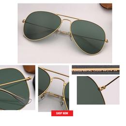 Новые солнцезащитные очки Pilot высокого качества для женщин / мужчин Классические солнцезащитные очки uv400 Aviation Солнцезащитные очки Марки из натурального стекла, объектив 55 мм, размер 58 мм, 62 мм, черный rd3025 gafas от