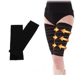 baba93d6161 China Slimming Thigh Leg Shaper Nylon Spandex Shapewear Elastic Stretch Leg  Socks Belt Black Calorie Off