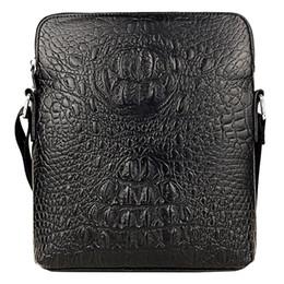 GUBAIYU Genuine Leather Crossbody Briefcase Mens Trendy Handbag Bag Soft  High Quality Messenger ShouldBag Business Bag Crocodile aff41ab0afe8b
