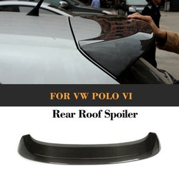 carbon fiber lips Promo Codes - A style carbon fiber rear roof lip spoiler wing for VW Polo VI 2011 Car Cover