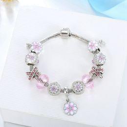 gioielli adolescenti Sconti Braccialetti di moda donna Bracciale in lega di fiori Bangle Colorful Diamond 14 stili Bracciale Teenager Girls Crystal Jewelry