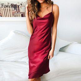 1df52f818ac backless slips Promo Codes - Forefair Summer Off Shoulder Sexy Silk Dress  Party Night Club Polka