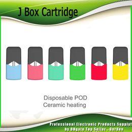 Wulstbehälter online-Original Ciggo J Box Patronen 0.6ml Keramikspule Mango Mint Blueberry Beads 5 Geschmacksrichtungen Vape Tank Fit J Box Kit 100% Authentisch
