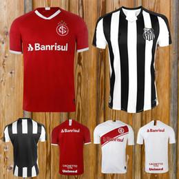 camiseta do brasil Desconto 2019 Internacional Home Soccer vermelho qualidade jerseyThai 2019-2020 clube brasileiro t-shirt Brasil Santos internacionais crianças jersey