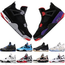 2019 zapatos de alas para niños Con Box Boys 2019, el más nuevo Bred 4 4s What The Cactus Jack Laser Wings Zapatillas de baloncesto para hombre Eminem Pale Citron Hombres Sports Sports Sneakers zapatos de alas para niños baratos