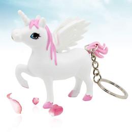 Unicorn Anahtarlık Tutucu At Anahtar Zincirleri LED Işık Ses Karikatür Tasarım Hediye nereden