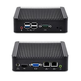 mini pc barato de china Rebajas QOTOM barato X86 thin client Dual Lan celeron J1900 Linux Mini PC sin ventilador, QOTOM-Q190S