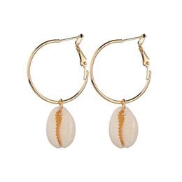 La moda coreana ciondola gli orecchini online-Retro orecchini di goccia di stile della Boemia degli orecchini coreani di modo dell'argento del cerchio dell'argento di estate coreana degli orecchini di spiaggia delle donne di vacanza
