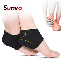 padded heel socks Coupons - Sunvo Plantar Fasciitis Socks for Achilles Tendonitis Calluses Spurs Cracked Pain Relief Heel Pad Men Women Insert Dropshipping
