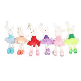 Lindos osos de peluche online-Juguetes para bebés Conejo lindo Dormir Comodidad Muñeca de peluche Conejo de peluche Oso de peluche Animales de peluche Juguetes para bebés regalos B1115-2
