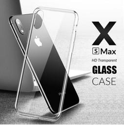 примечание: hd full Скидка HD прозрачный стеклянный телефон чехол для 6 6 S 7 8 Plus iPhone X XS Max XR полный ясно телефон случаях для Samsung Galaxy S8 S9 Примечание 8 9 Huawei Mate 20