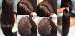 kosher wigs Coupons - Jewish Wigs Grade Human Hair Light Brown Color#4 Best Sheitels 5.5x6 Silk Top Jewish Wigs Finest Mogolian Virgin Hair 100% Kosher Wigs