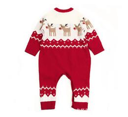mono de invierno para niños Rebajas El traje de invierno de Grapara niños recién nacidos para muchachas de los bebés de Navidad animal del estilo infantil para niños de los mamelucos del mono con ciervos Trajes M622