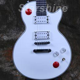 2019 mejor guitarra hueca DH-P2 2011 GB Buckethead LP Studio Guitarra eléctrica Red Kill Switch Sonido cerrado Estilo personalizado Guitarra Caoba Cuerpo Grover Tuner