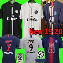 Jersey futbol online-2019 2020 PSG terza maglia jersey Mbappe calcio CAVANI Verratti all'inizio Thailand 18 19 20 camicia Parigi calcio KIMPEMBE Camiseta de futbol