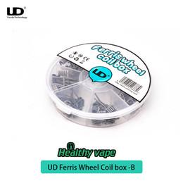 fio diy clapton Desconto 100% original UD Ferris Roda Bobina Box-B 7in1 Fio com Fio Clapton KA1 SS316 Juggernaut DIY Fio
