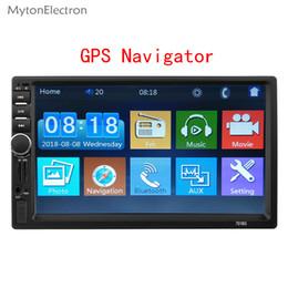 navegación pantalla táctil coche audio Rebajas 2 Din Navegador GPS Navegador mp5 Radio de coche 7