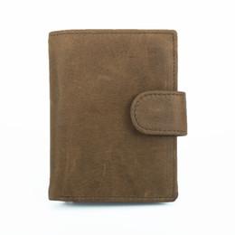 bolsas importadas Desconto 2019 New luxury Imported camada superior de couro RFID anti-magnetic wallet bolsa de couro genuíno dos homens do estilo do vintage