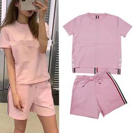 dcc28802a camiseta de malha de seda Desconto 2019 t-shirt da listra da cor do verão