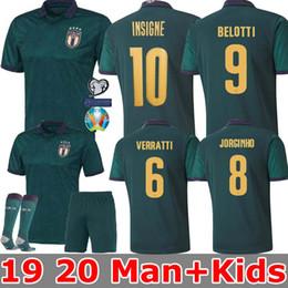 MAN + KIDS 2019 2020 Италия Кубок Европы футбол Джерси 19 20 Темно-зеленый Жоржиньо BERNARDESCHI EL Шаарави Бонуччи INSIGNE маек от
